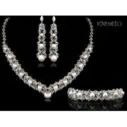 Biżuteria ślubna z kryształami i perłami Swarovski® KP22