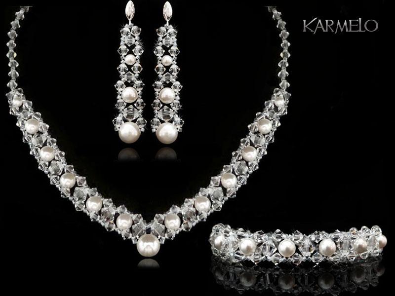 biżuteria ślubna - komplet swarovski