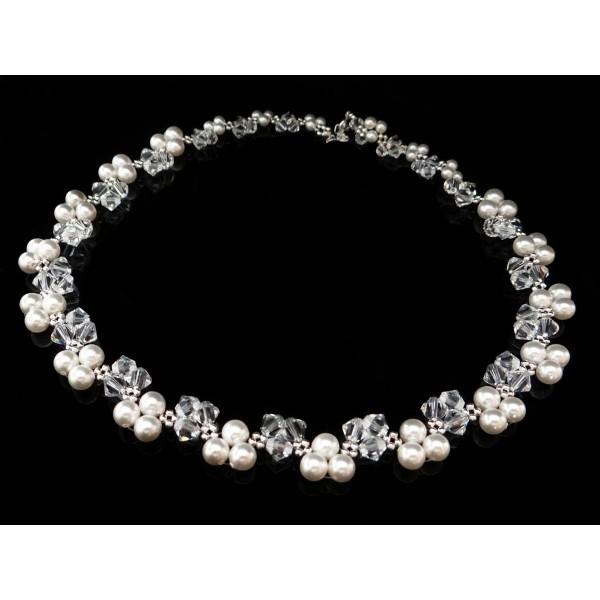 Naszyjnik ślubny z kryształami Swarovskiego® NK16