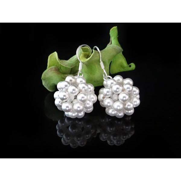 Kolczyki do Ślubu z perłami Swarovski® KR39