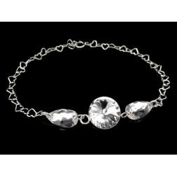 Biżuteria ślubna z kryształami Swarovskiego®  BR42