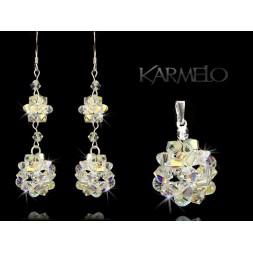Biżuteria Ślubna kryształki Swarovski® KP62 AB