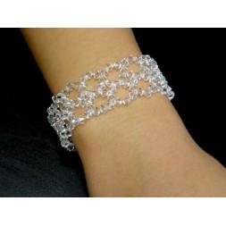 Biżuteria ślubna bransoletka z kryształami Swarovskiego®  BR108