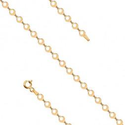 Srebrna bransoletka pozłacana 24K złotem