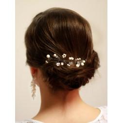 Ozdoba do włosów z perłami i kryształami Swarovski® OZ1