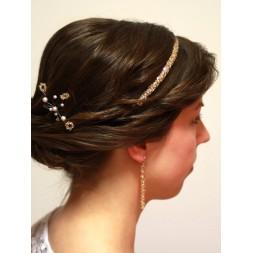 Opaska do włosów z kryształami Swarovskiego® Golden Shadow O1