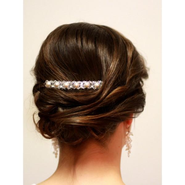 Ozdoba do włosów Grzebyk perły i kryształy Swarovskiego®G3