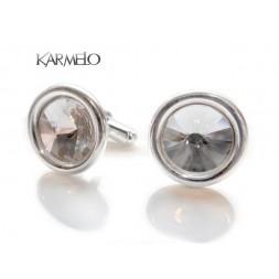 Srebrne spinki do mankietów z kryształami Swarovski® SP11