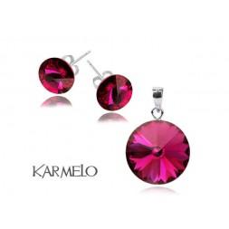 Biżuteria z kryształami Swarovski® Rivoli Fuksja sztyfty KP65