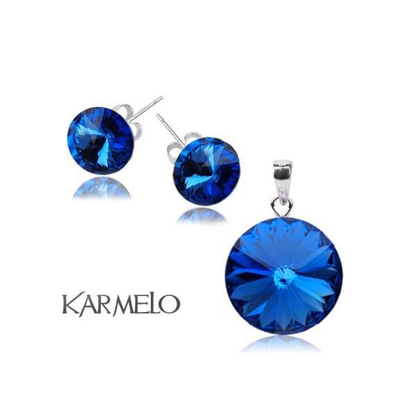 Biżuteria z kryształami Swarovski® Rivoli Szafir KP65