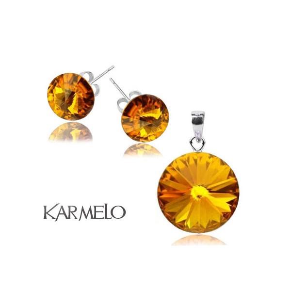 Biżuteria z kryształami Swarovski® Rivoli Sunflower- złoty KP65
