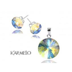 Biżuteria z kryształami Swarovski® Rivoli Fuksja AB opalizujący KP65