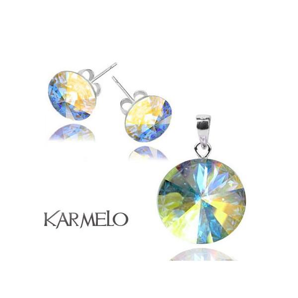Biżuteria z kryształami Swarovski® Rivoli AB opalizujący KP65