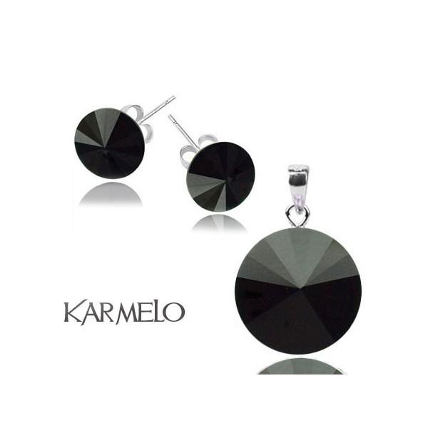 Biżuteria z kryształami Swarovski® Rivoli Czarny Jet KP65
