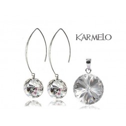 Biżuteria srebrna rybki z kryształami Swarovski® Rivoli Crystal KP66