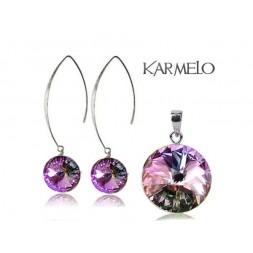 Biżuteria srebrna rybki z kryształami Swarovski® Rivoli VL KP66