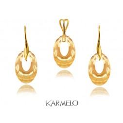 Komplet biżuterii z kryształami Swarovski® Złocony golden KP68