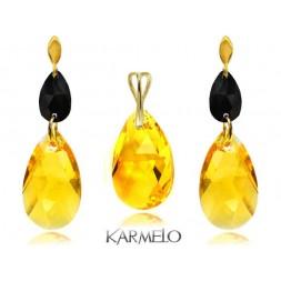 Komplet biżuterii z kryształami Swarovski® pozłacany KP70