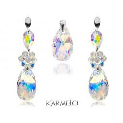 Biżuteria ślubna z kryształami Swarovski® opalizujący AB KP69