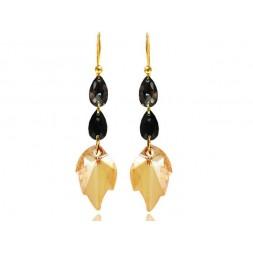 Kolczyki srebrne złocone z kryształami Swarovski® KR73