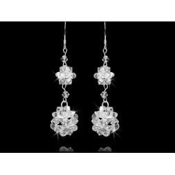 Biżuteria ślubna Kolczyki z kryształami Swarovski® KR61