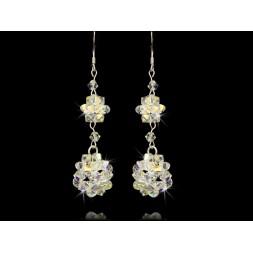 Biżuteria ślubna Kolczyki z kryształami Swarovski® KR61 AB