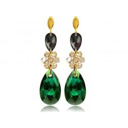 Kolczyki srebrne złocone z kryształami Swarovski® KR69