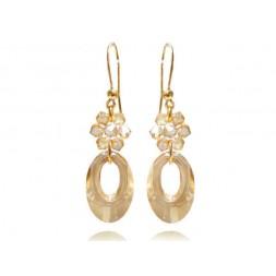 Kolczyki srebrne pozłacane z kryształami Swarovski® golden KR71