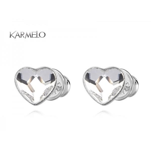 Kolczyki Serca sztyfty z kryształkami Swarovskiego® -crystal KR76