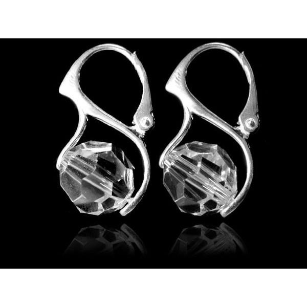 Kolczyki Kule kryształy Swarovskiego® - crystal KR77