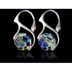 Kolczyki Kule kryształy Swarovskiego® - crystal AB KR77