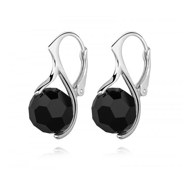 Kolczyki Kule kryształy Swarovskiego®- czarne jet KR77