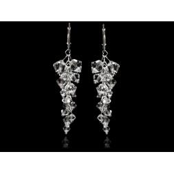 Biżuteria ślubna kolczyki grona 6 cm z kryształami Swarovski® KR131 crystal
