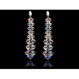 Kolczyki zz kryształami Swarovski® AB sztyfty KR141
