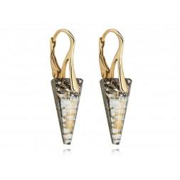 Kolczyki z kryształami Swarovski® TRÓJKĄTY gold patina KR134