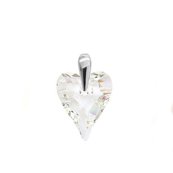 Wisiorek SERCE z kryształami Swarovski® Crystal