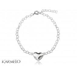 Bransoletka Serce z kryształem Swarovski® crystal BR101