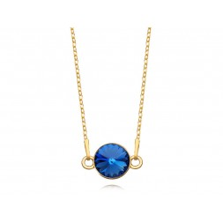 Srebrny naszyjnik pozłacany 24K złotem z kryształem Swarovskiego®