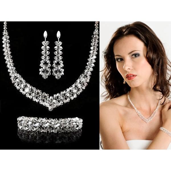 Biżuteria ślubna swarovski elements kp11