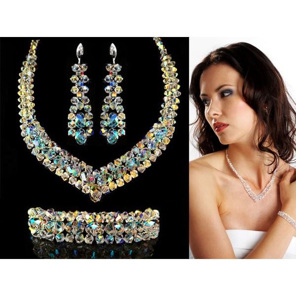 Biżuteria ślubna z kryształkami Swarovski ® KP10