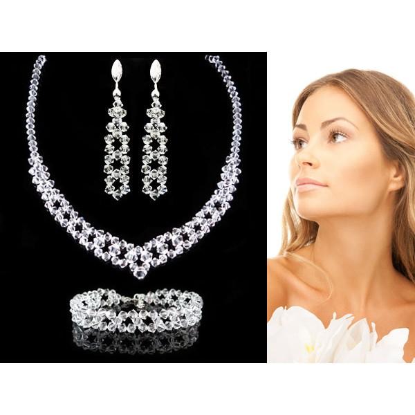 Komplet do Ślubu z kryształami Swarovskiego® KP55