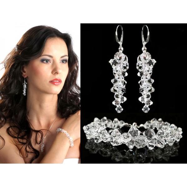 Komplet ślubny z kryształami Swarovski® KP131