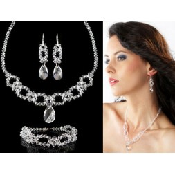 Biżuteria ślubna z kryształami Swarovski® KP19