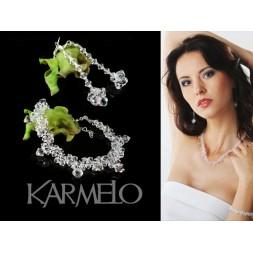 Komplet ślubny z kryształami Swarovski® KP32