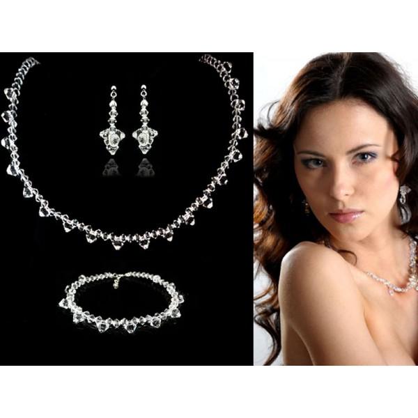 Biżuteria ślubna z kryształami Swarovski® KP44