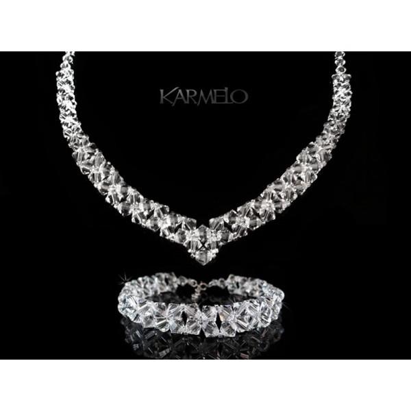 Biżuteria ślubna z kryształami Swarovskiego® KP42