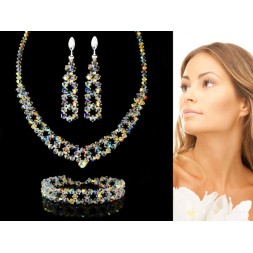 Biżuteria ślubna kryształy Swarovski®  KP551 AB