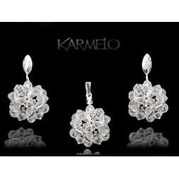 Biżuteria Ślubna Komplet z kryształami Swarovskiego® K58