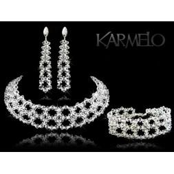 Biżuteria ślubna kryształy Swarovski ® KP106