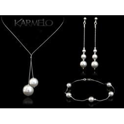 Biżuteria srebrna z perłami Swarovskiego ® KP113